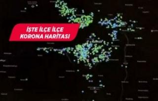 İzmir'in koronavirüs haritası güncellendi!