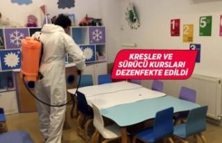 Gaziemir'de eğitim kurumlarında dezenfeksiyon...