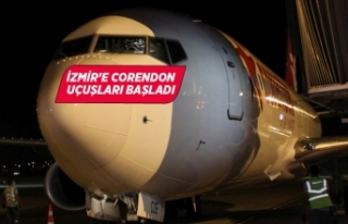 İzmir'e Corendon uçuşları başladı