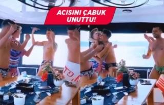 Kerimcan Durmaz ve arkadaşlarından lüks yatta parti!