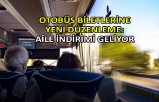 Otobüs biletlerine yeni düzenleme: Aile indirimi...