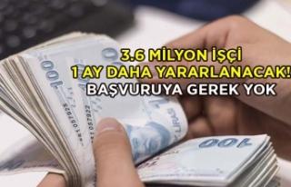 3.6 milyon işçi 1 ay daha yararlanacak!