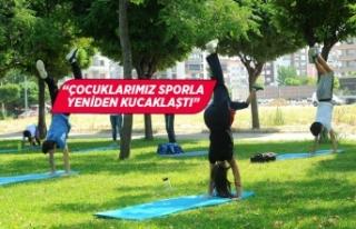 Çiğli'de Spor Sosyal Mesafeyle yeniden başladı
