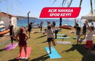 Karaburun'da denize nazır pilates