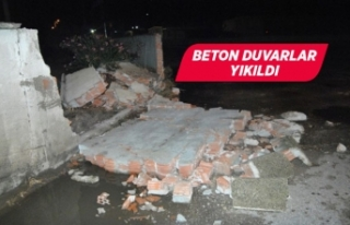 İzmir'de şiddetli yağış ve rüzgar