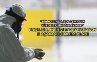 Prof. Dr. Mehmet Ceyhan'dan 5 aşamalı önlem...