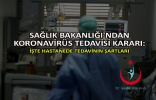 Sağlık Bakanlığı'ndan koronavirüs tedavisi...