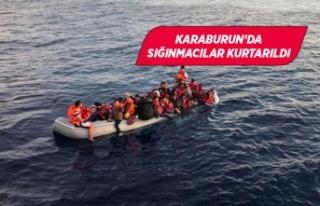 Türk kara sularına itilen 41 sığınmacı kurtarıldı