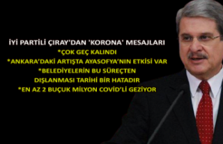 İYİ Partili Çıray'dan 'korona'...