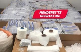 İzmir'de kaçak üretilen maske ve koruyucu...