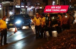 İzmir'de otomobilin çarptığı yaya ağır...