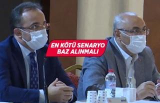 İzmir Afet Müdahale Planı değerlendirme toplantısı...