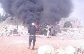 Rus Uçakları İdlib'i Bombaladı İddiası