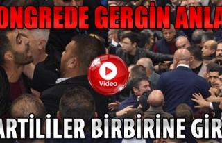 CHP İzmir İl Kongresinde Gergin Anlar