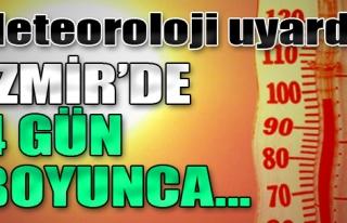 İzmir'de 4 Gün Boyunca 'Ekstrem' Hava Sıcaklığı...
