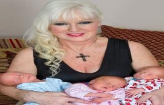 55 Yaşındaki Büyükanne Üçüz Doğurdu