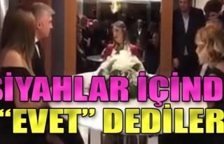 Özcan Deniz ile Feyza Aktan'ın nikahından ilk görüntü