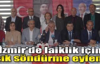 İzmir'de Laiklik İçin Işık Söndürme Eylemi