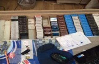 İzmir'de Kaçak İçki ve Sigara Operasyonu