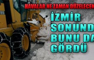 Kar, İzmir'de Etkisini Gösterdi