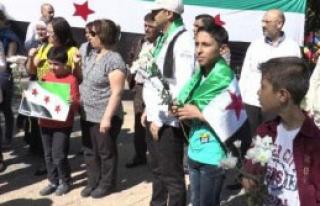 Suriyeliler'den Rusya Protestosu