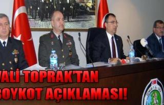 Toprak'tan Boykot Açıklaması!