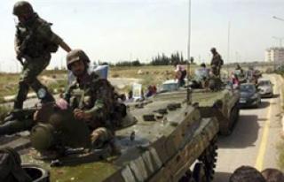 Suriye ordusu Lübnan'a girdi