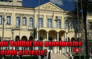 İzmir Valiliği'nin Genelgesine Denizde Protesto