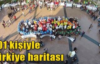 301 Kişiyle Türkiye Haritası