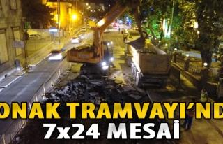 Konak Tramvayı'nda 7x24 Mesai