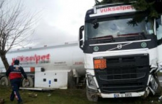 Yoldan Çıkan Akaryakıt Tankeri Korkuttu