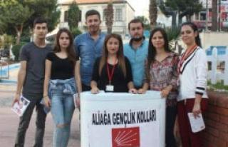 CHP'li Gençler Alanlarda Oy İstiyor