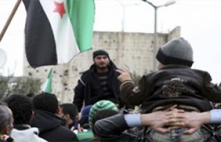 Yayla dağdaki  Suriyelilerden Skeçli Protesto