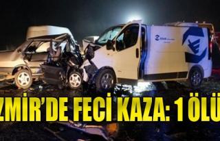 İzmir'de Kaza: 1 Ölü