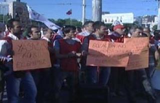 Destek Olmak İçin Taksim'de Toplandılar
