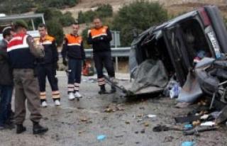 Isparta'da Kaza:1 Ölü, 3 Yaralı