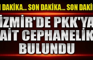 İzmir'de Cephanelik Bulundu