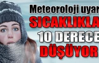 Kar Geliyor, Sıcaklık 10 Derece Düşüyor!