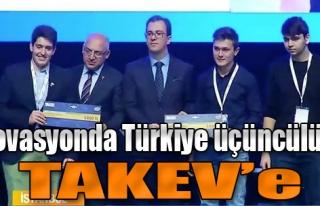 İnovasyonda Türkiye Üçüncülüğü TAKEV'e