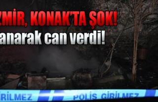 Barakada Çıkan Yangında 1 Kişi Öldü