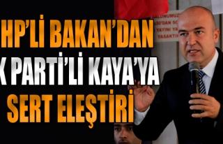 CHP'li Bakan'dan Kaya'ya Sert Eleştiri
