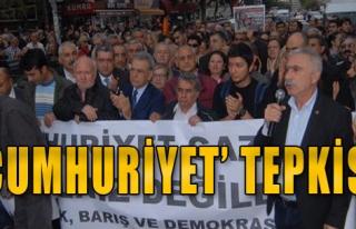 İzmir'de 'Cumhuriyet' Tepkisi