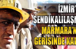 İzmir'de Sendikalılaşma Marmara'nın Gerisinde...