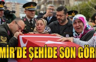 İzmir'de Şehide Son Görev