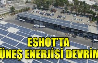 ESHOT'ta güneş enerjisi devrimi