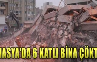 Amasya'da Bina Çöktü