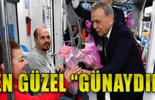 Çiçekler Başkan'dan