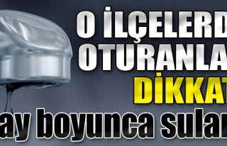 İzmir'in O İlçelerinde Oturanlar Dikkat!