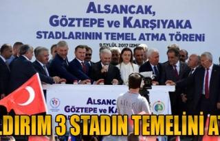 Başbakan Binali Yıldırım İzmir'de 3 Stadın Temelini...