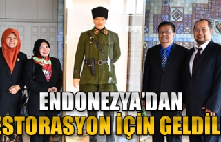 Endonezya'dan Restorasyon İçin Geldiler